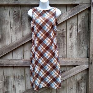 Rampage Plaid Vintage Sheath Dress Sz 5